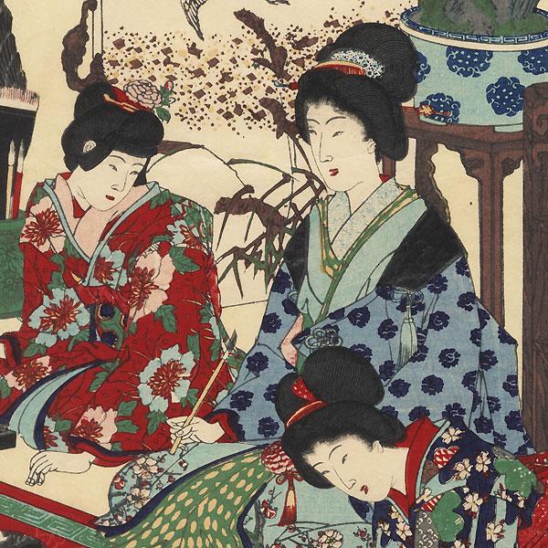 Painting by Chikanobu (1838 - 1912)