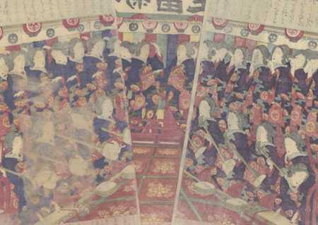 New Song and Dance, 1883 by Kunichika (1835 - 1900)