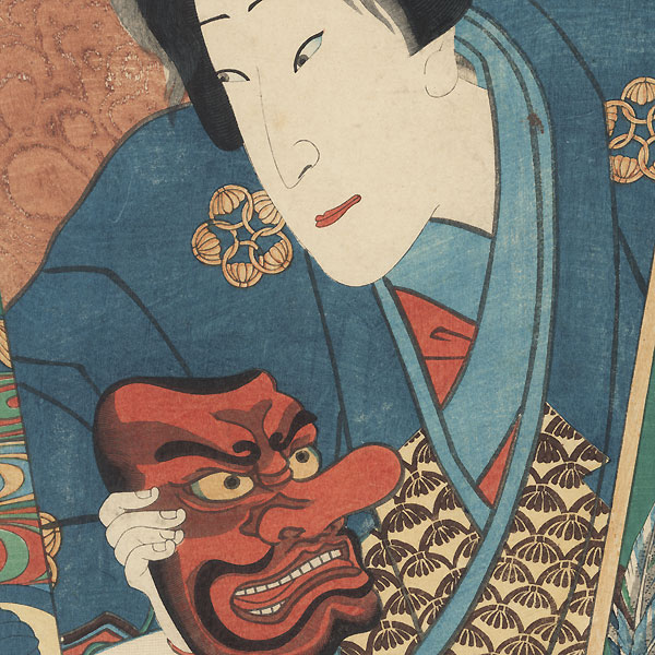 Actor with Tengu Mask, 1862 by Toyokuni III/Kunisada (1786 - 1864)