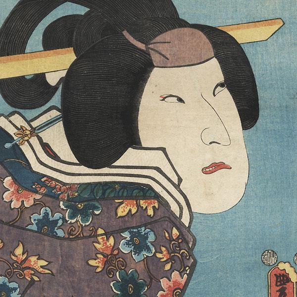 Suspicious Beauty, 1852 by Toyokuni III/Kunisada (1786 - 1864)