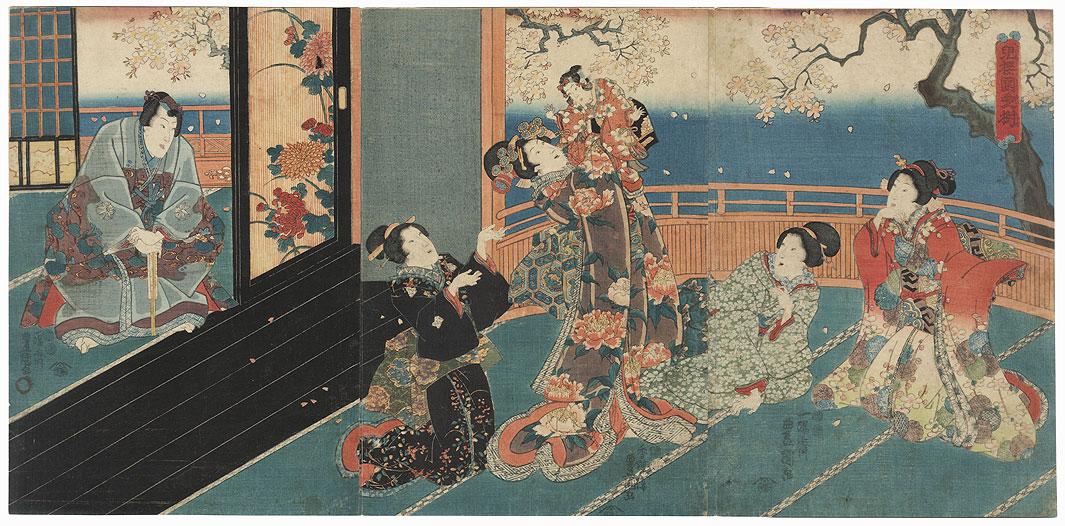The Little Cherry, Most Beloved Tree in the Garden, 1847 - 1852 by Toyokuni III/Kunisada (1786 - 1864)