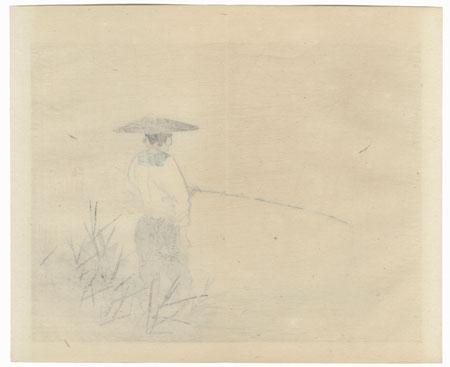 Fisherman by Bairei (1844 - 1895)