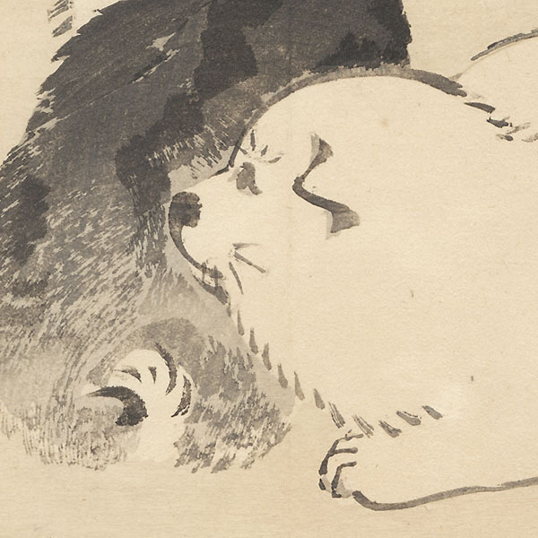 Puppies by Bairei (1844 - 1895)