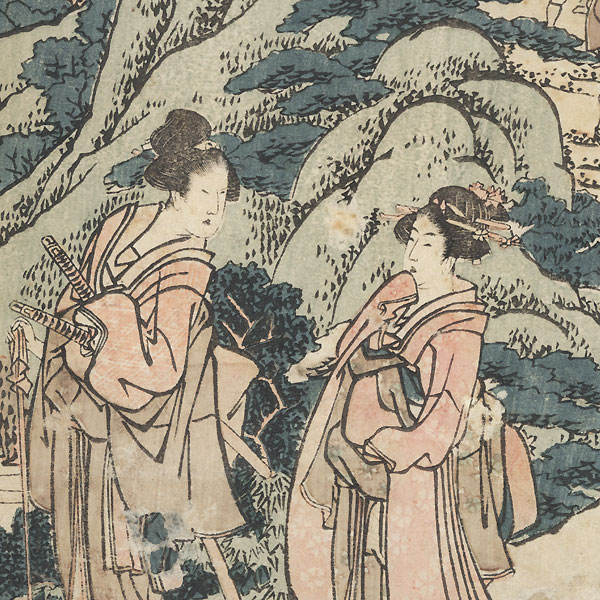 The 47 Ronin, Act 8: Michiyuki (The Bridal Journey), circa 1806 by Hokusai (1760 - 1849)
