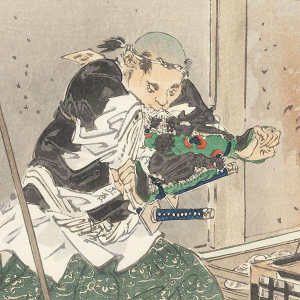 Nakamura Kansuke Masatoki, 1902 by Gekko (1859 - 1920)