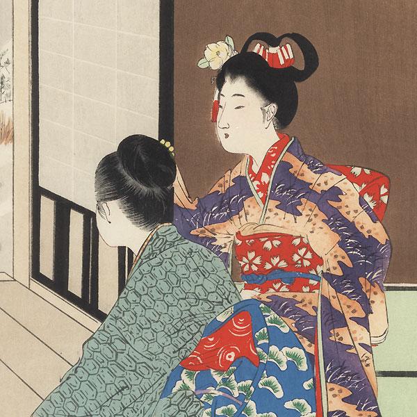 December: Snow Viewing by Miyagawa Shuntei (1873 - 1914)