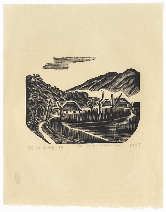Country Road, 1927 by Unichi Hiratsuka (1895 - 1997)