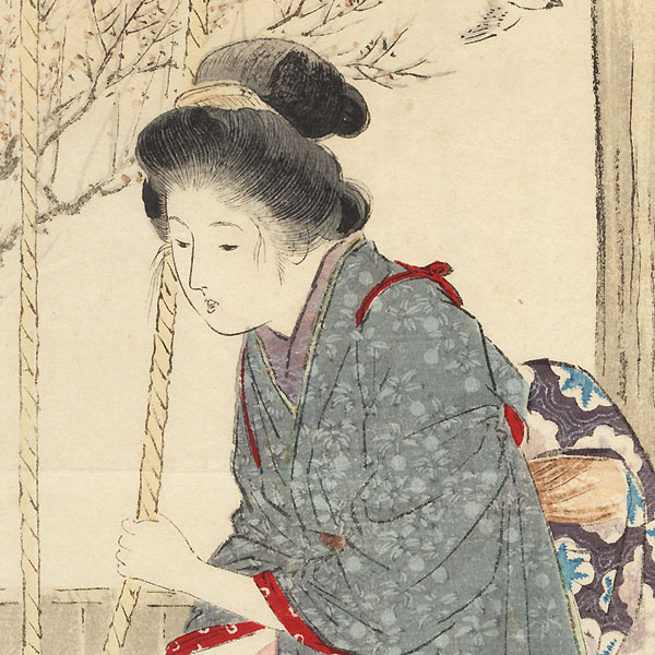 Fresh New Year's Water Kuchi-e Print, 1907 by Takeuchi Keishu (1861 - 1942)