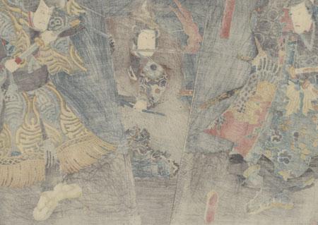 Magician and Archer in Wolf Skin, 1852 by Toyokuni III/Kunisada (1786 - 1864)
