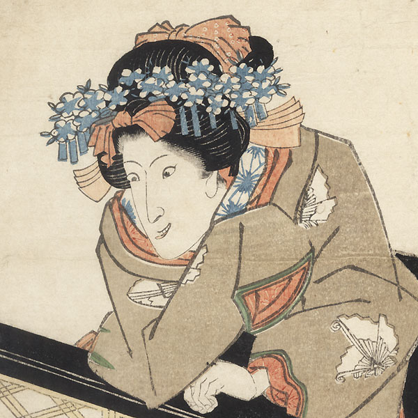 Iwai Hanshiro as a Crazed Beauty by Toyokuni III/Kunisada (1786 - 1864)