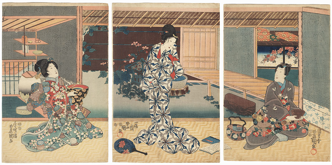 A Summer Morning, 1847 - 1852 by Toyokuni III/Kunisada (1786 - 1864)