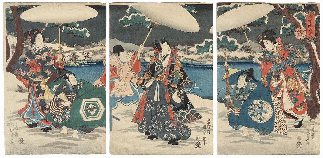 Snow, 1852 by Kunisada II (1823 - 1880)