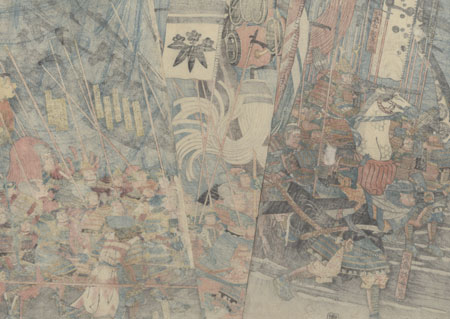 Battle of Ichi-no-Tani by Yoshitsuya (1822 - 1866)