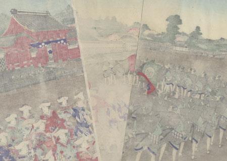 Bridal Procession of a Tokugawa Princess, 1889 by Kunisada III (1848 - 1920)