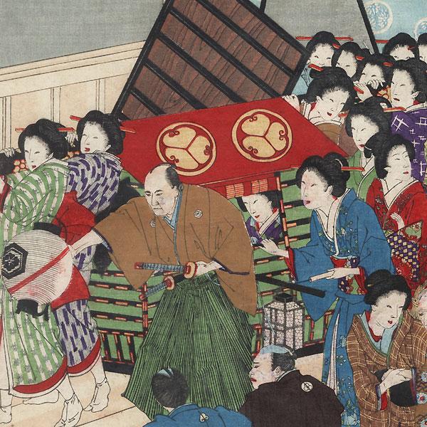 Great Earthquake at Kasumigaseki in Ansei 2, 1889 by Chikanobu (1838 - 1912)