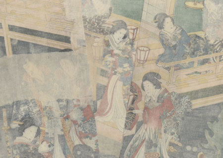The Little Princess Visits the Shrine, 1861 by Toyokuni III/Kunisada (1786 - 1864)
