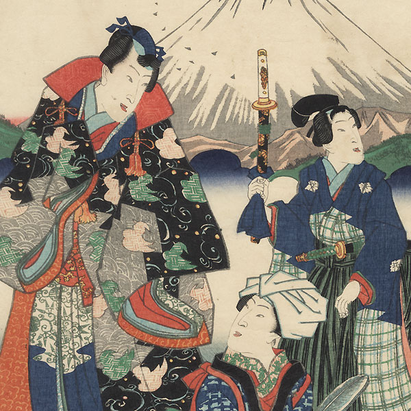Prince Genji and Beauties Raising Silkworms, 1865 by Kuniaki II (1835 - 1888)