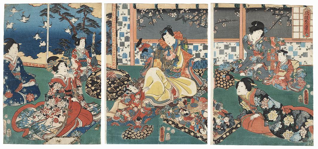 Fashionable Eastern Genji, 1854 by Toyokuni III/Kunisada (1786 - 1864)