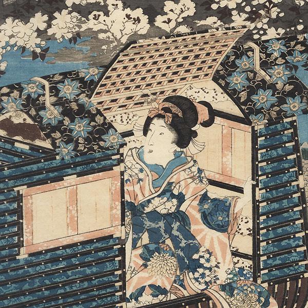 The Garden in Spring, 1847 - 1850 by Toyokuni III/Kunisada (1786 - 1864)
