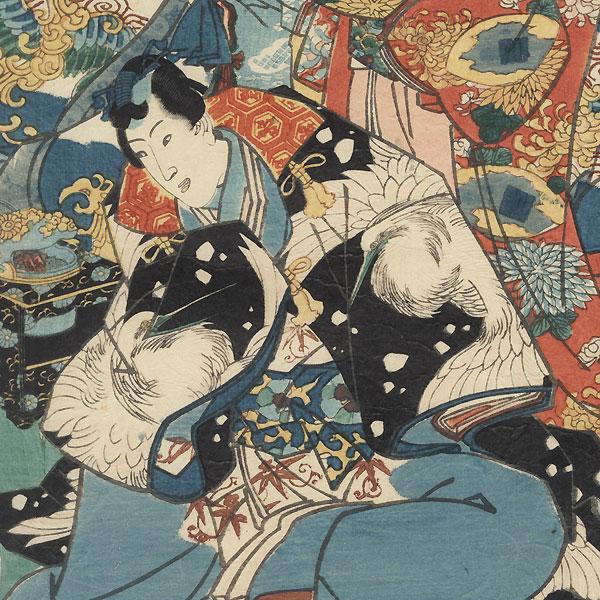 Colors of Spring: Flowers at the Foot of the Mountain, 1847 - 1852 by Toyokuni III/Kunisada (1786 - 1864)