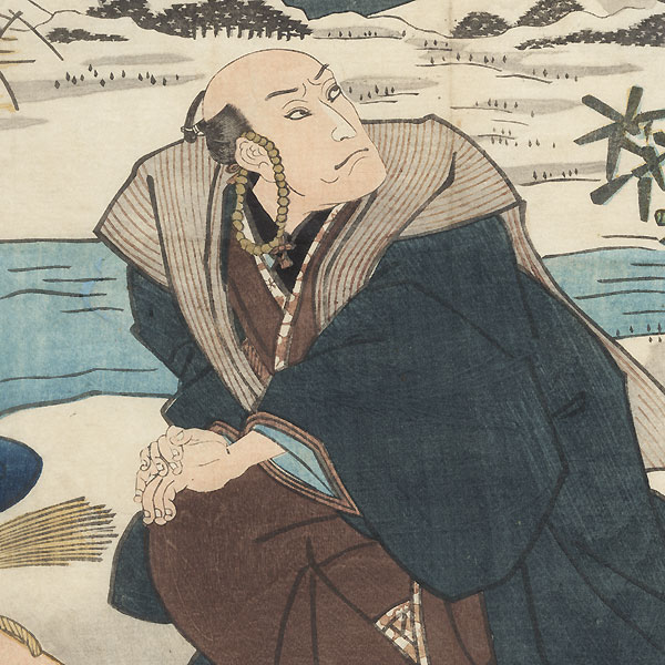 Scene from Umegawa and Chubei, 1854 by Toyokuni III/Kunisada (1786 - 1864)