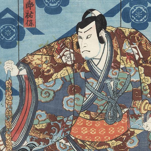 Confronting a Daimyo, 1854 by Toyokuni III/Kunisada (1786 - 1864)
