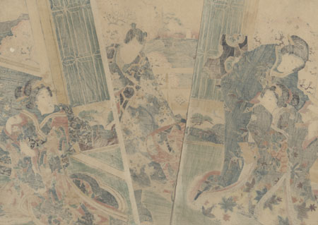 Flowers of Akashi, 1853 by Kuniteru (active circa 1820 - 1860)