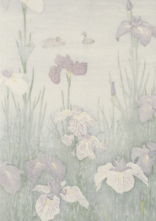 Irises and Ducks by Toshi Yoshida (1911 - 1995)