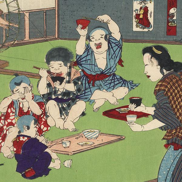 Yugao, Chapter 4 by Kunichika (1835 - 1900)