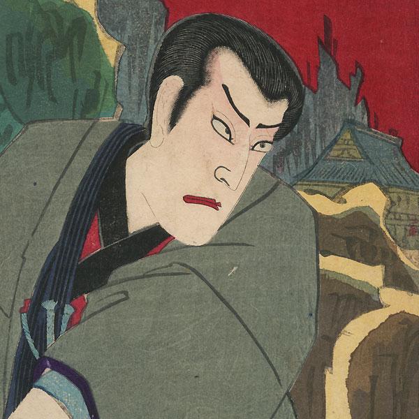 Scene from Shima Chidori Tsuki no Shiranami, 1881 by Chikanobu (1838 - 1912)