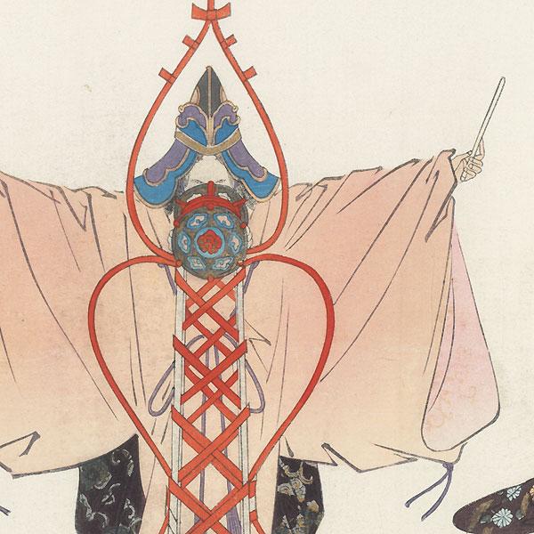 Fuji daiko (Fuji's Drum) by Tsukioka Kogyo (1869 - 1927)