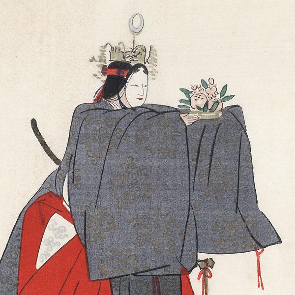 Seiobo (Queen Mother of the West) by Tsukioka Kogyo (1869 - 1927)