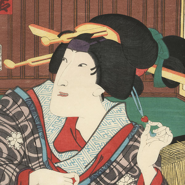 Scene from Honchoshi Shirabe no Iroito, 1864 by Kunichika (1835 - 1900)