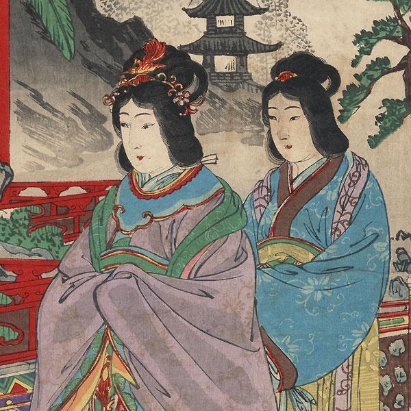 Banquet inside the Korean Royal Palace, 1894 by Nobukazu (1874 - 1944)