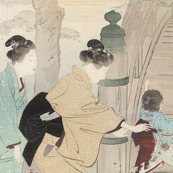 Wisteria in Kameido, 1897 by Gekko (1859 - 1920)