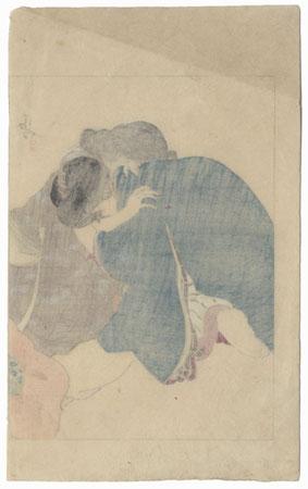 Original Meiji Era Kuchi-e Print by Kiyokata Kaburagi (1878 - 1973)