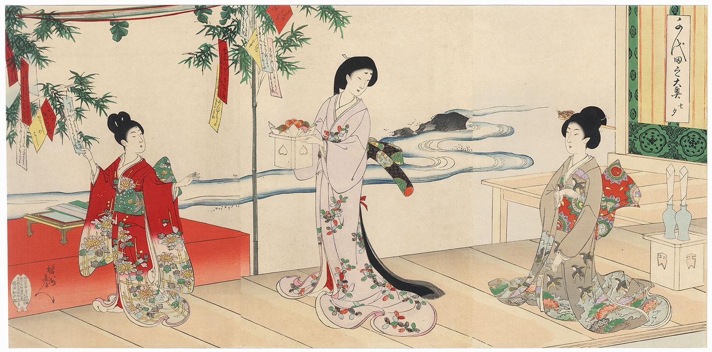 Tanabata Festival, 1896 by Chikanobu (1838 - 1912)