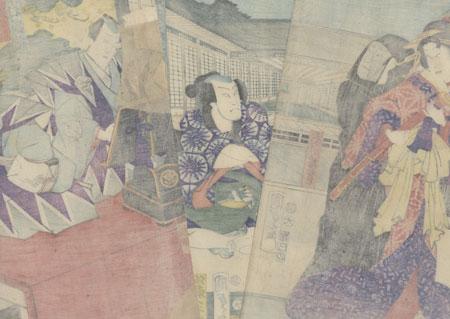 The 47 Ronin, Act 7: The Ichiriki Teahouse, 1865 by Kunisada II (1823 - 1880)
