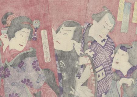 Dozaemon and Oshichi, 1872 by Chikanobu (1838 - 1912)