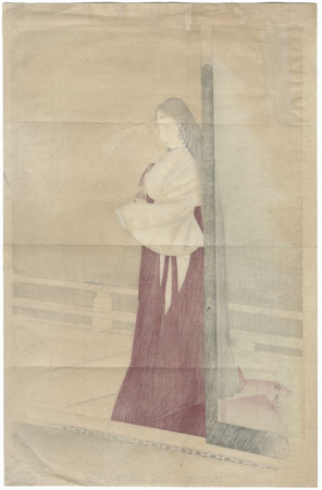 Beauty on a Verandah, 1903 by Meiji era artist (not read)