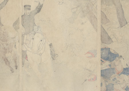 The First Army's Occupation of Jiuliancheng, 1894 by Toshihide (1863 - 1925)