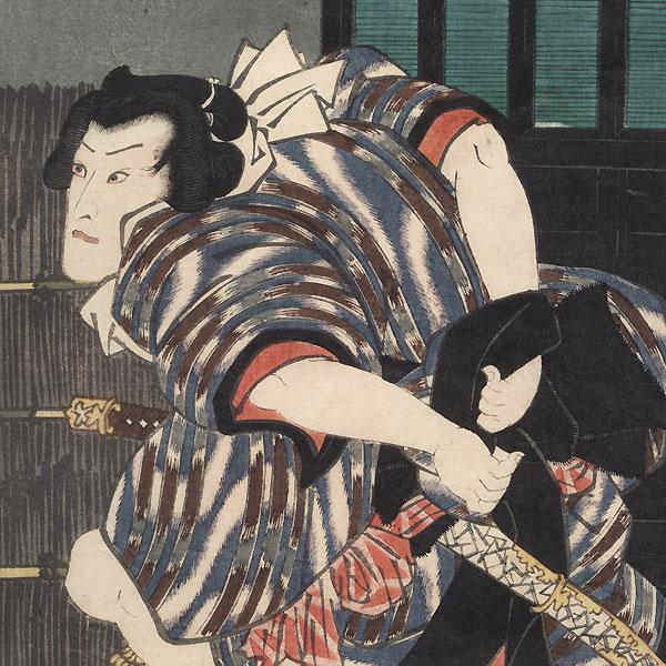 Scene from Futatsu Chocho Kuruwa Nikki, 1852 by Toyokuni III/Kunisada (1786 - 1864)