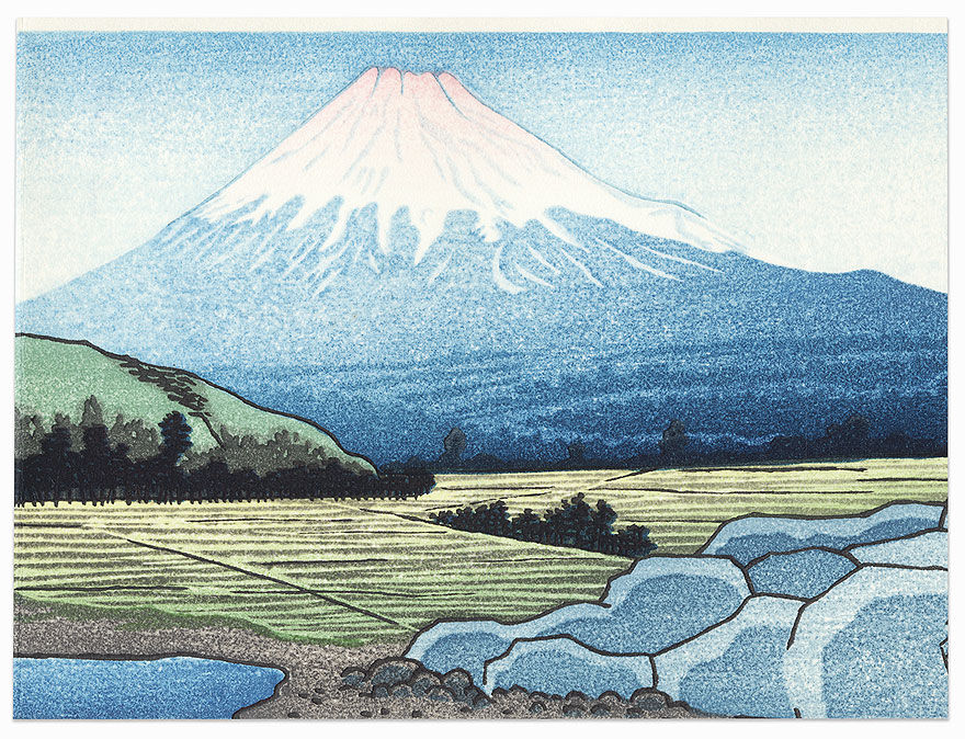 Mt. Fuji and Fields by Shin-hanga & Modern artist (unsigned)