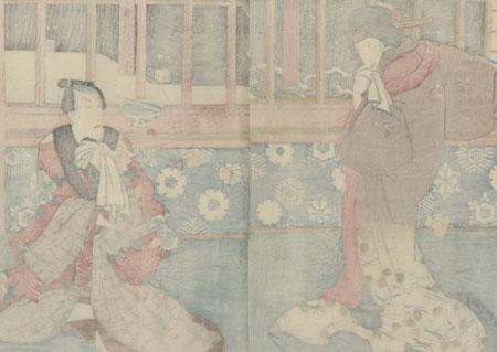 Lovers Meeting Secretly, 1851 by Toyokuni III/Kunisada (1786 - 1864)