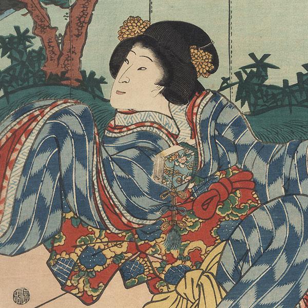 The 47 Ronin, Act 3: Kampei and Okaru, 1862 by Toyokuni III/Kunisada (1786 - 1864)