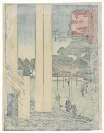 Honganji Temple by Umekawa Tokyo (active circa mid-1850s - early 1860s)