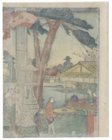 Umemiya Shrine, Rakusei by Umekawa Tokyo (active circa mid-1850s - early 1860s)
