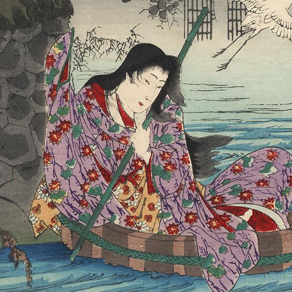 Mutsu, Moon, Princess Katami and Asahina, No. 31 by Chikanobu (1838 - 1912)