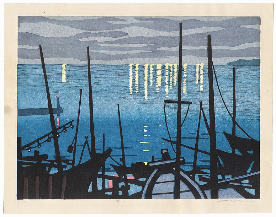Cormorant Fishing Flames, 1982 by Syozo (Shozo) Takahashi