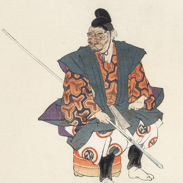 Kyogen Play Ebisu Bishamon by Tsukioka Kogyo (1869 - 1927)